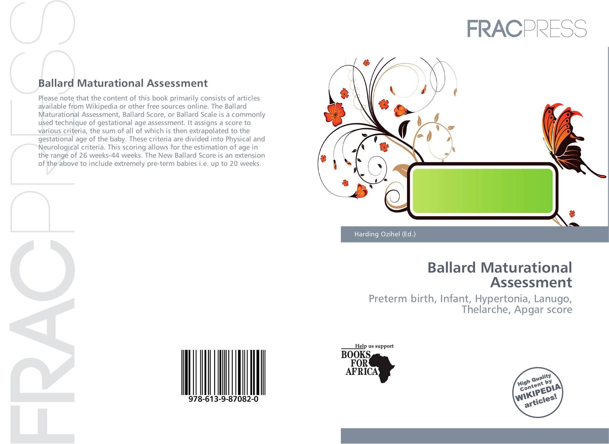 ballard maturational assessment, 978-613-9-87082-0, 6139870828