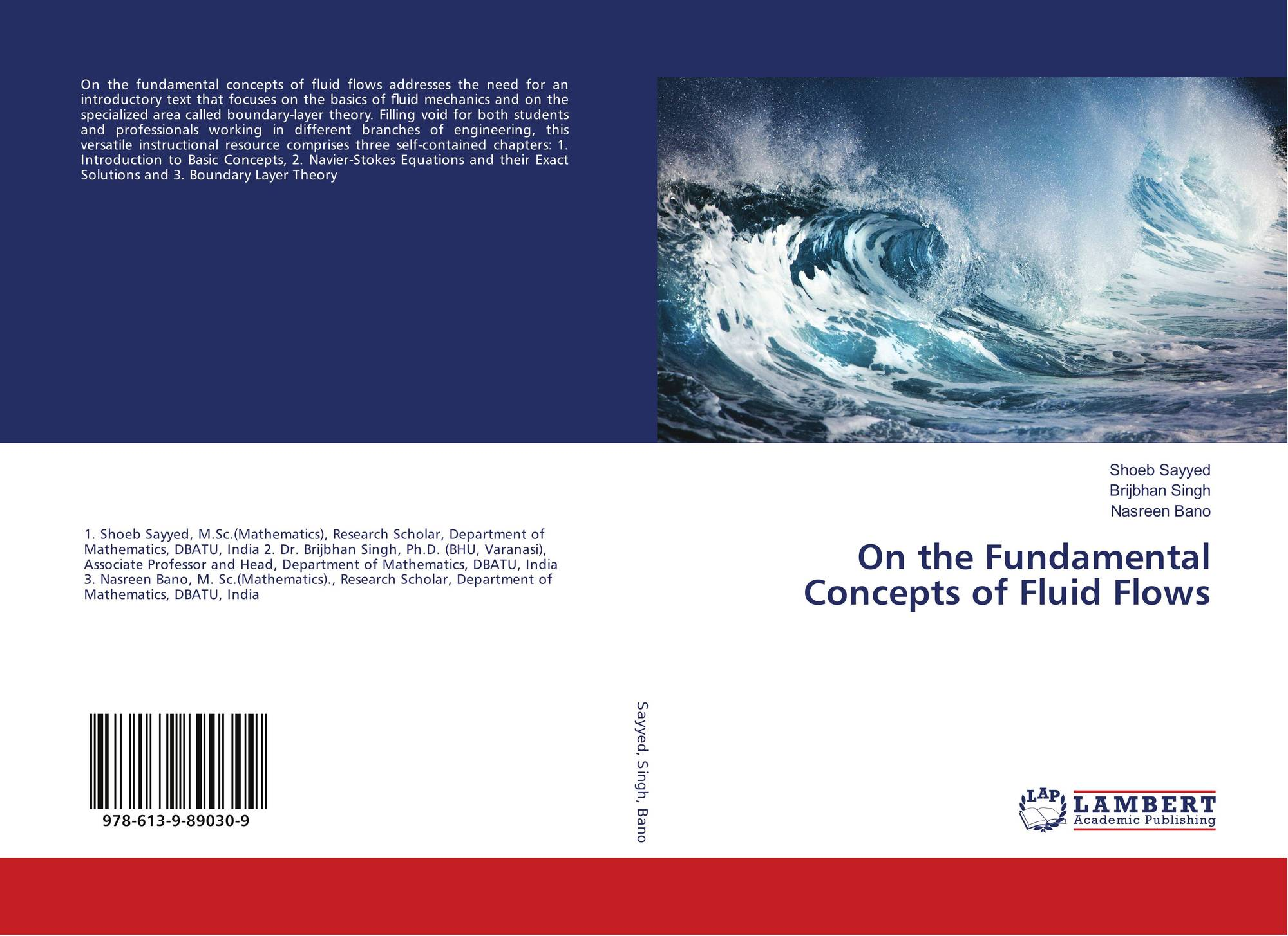 On the Fundamental Concepts of Fluid Flows, 978-613-9-89030
