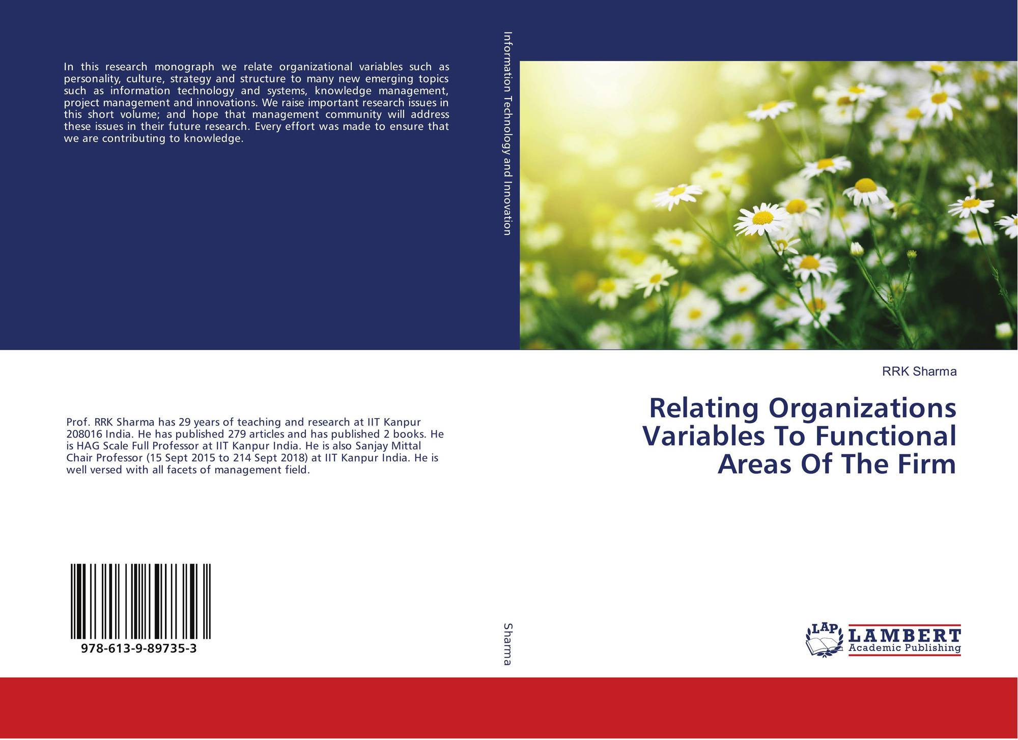 Relating Organizations Variables To Functional Areas Of The