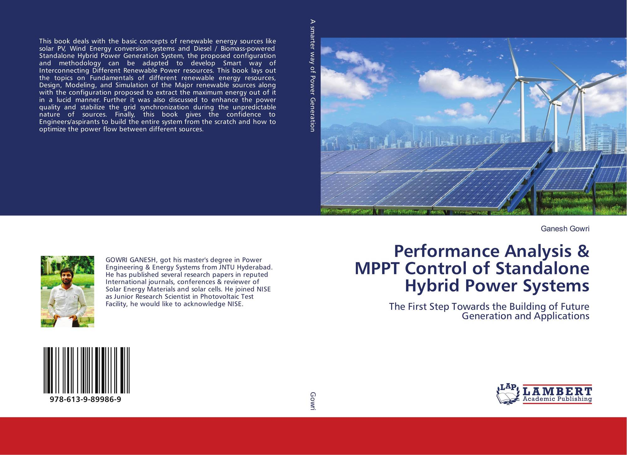 Performance Analysis Mppt Control Of Standalone Hybrid Power Charge Controller Versus Pwm Test Bookcover Systems 9786139899869