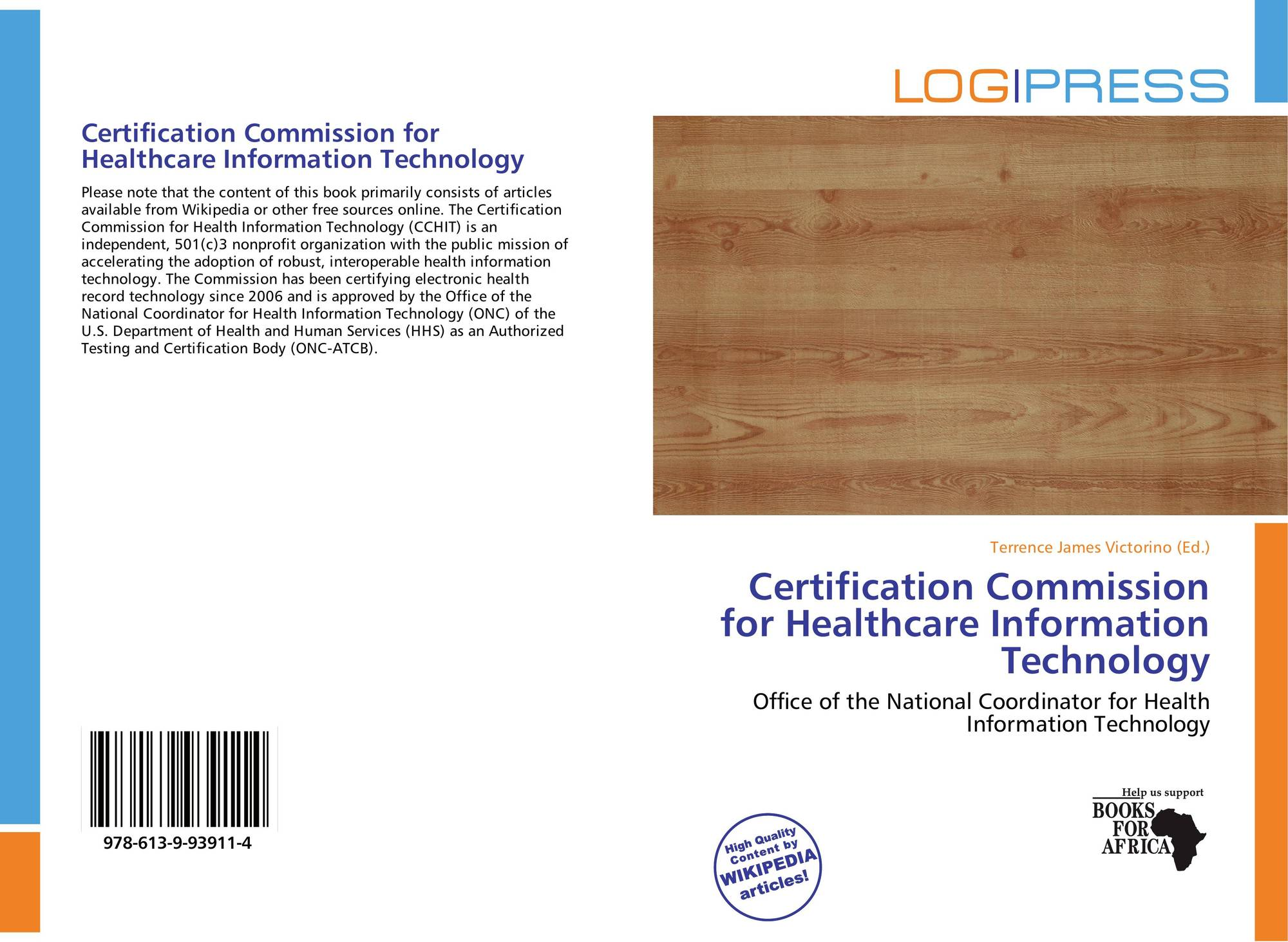 Certification commission for healthcare information technology bookcover of certification commission for healthcare information technology 9786139939114 1betcityfo Image collections