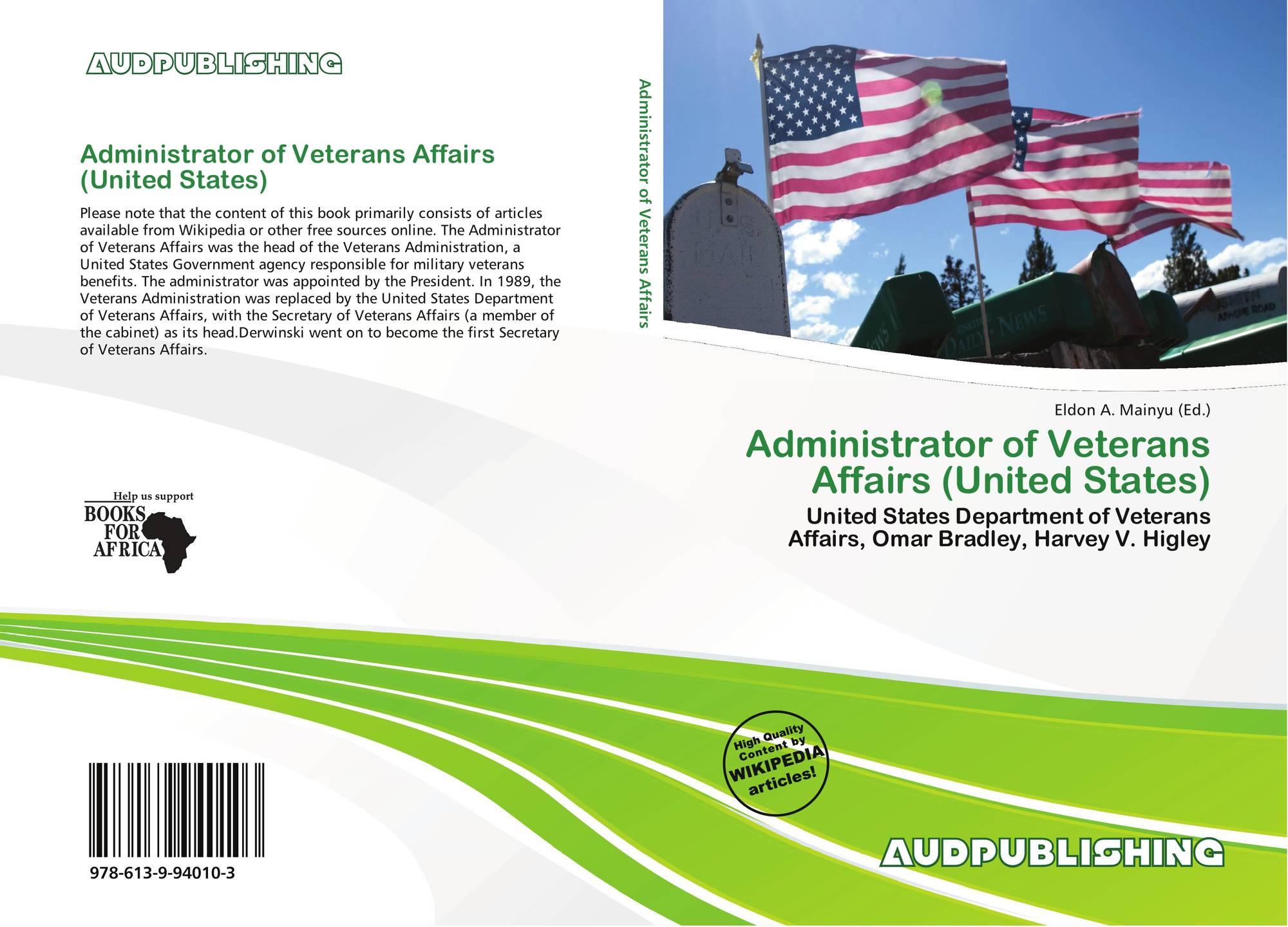 Administrator of Veterans Affairs (United States), 978-613-9