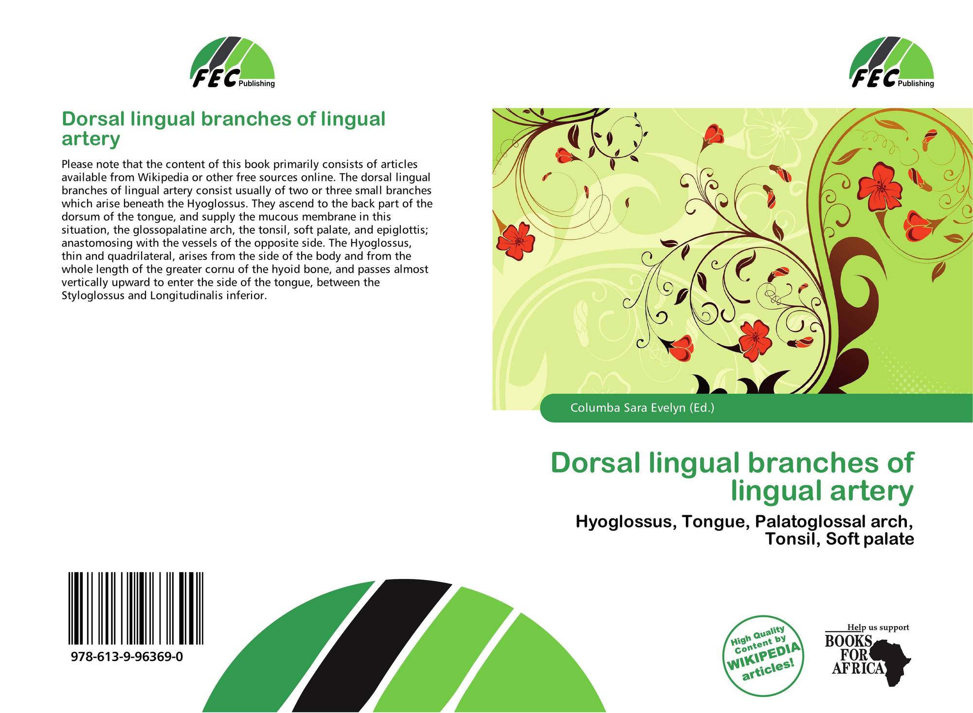 Dorsal lingual branches of lingual artery, 978-613-9-96369-0
