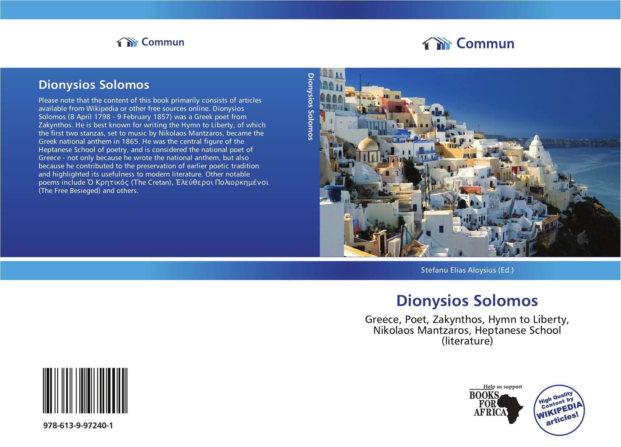 Dionysios Solomos, 978-613-9-97240-1, 613997240X ...