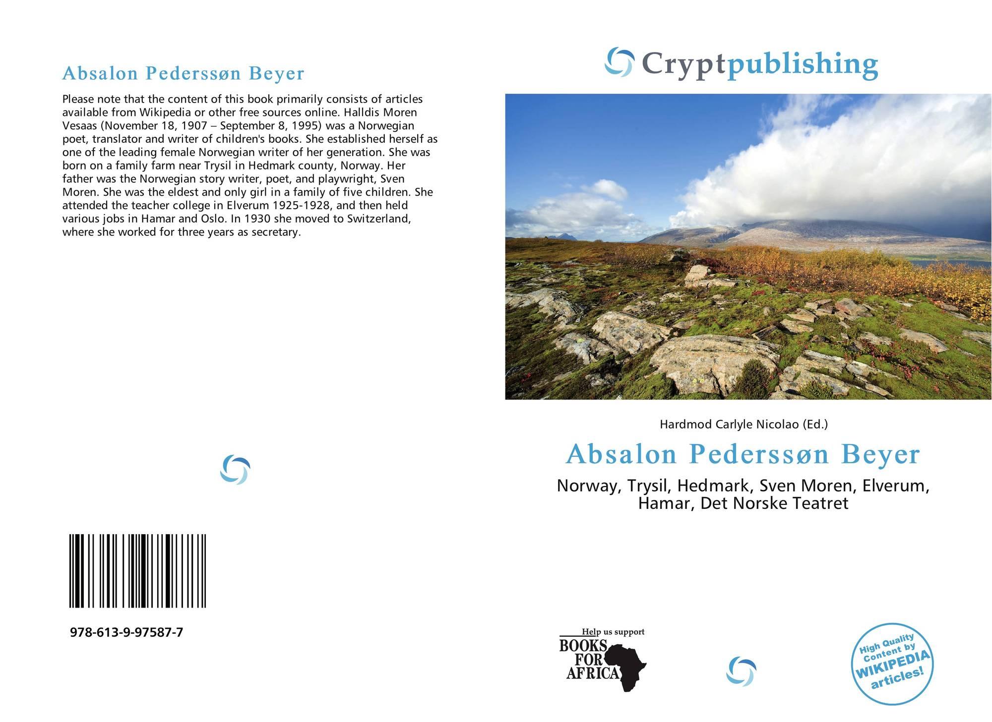 Absalon Pederssøn Beyer, 978-613-9-97587-7, 6139975875 ,9786139975877