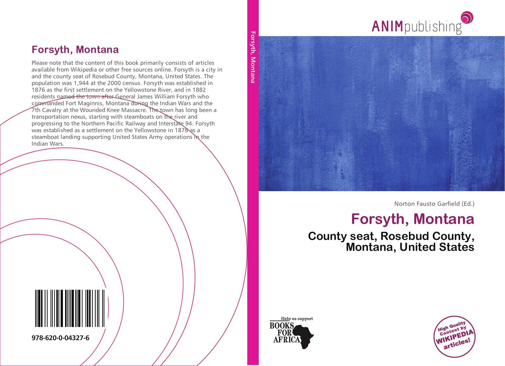 Montana rosebud county forsyth - Bookcover Of Forsyth Montana