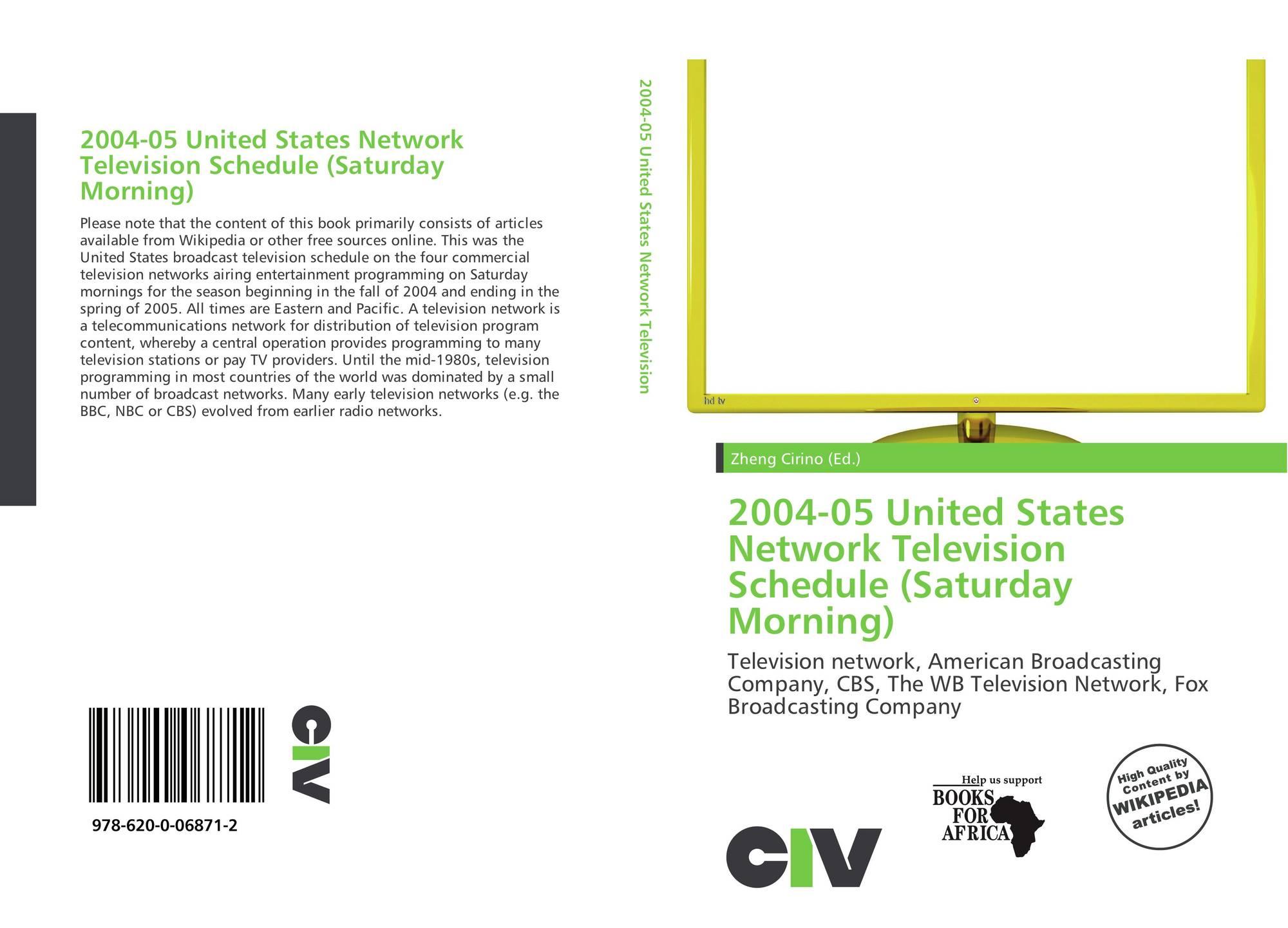 2004-05 United States Network Television Schedule (Saturday