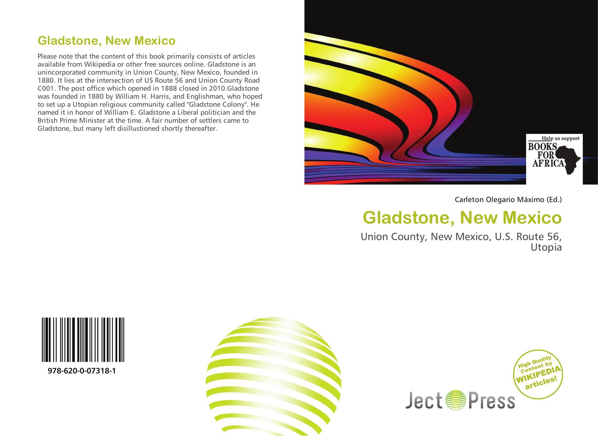 New mexico union county gladstone - Bookcover Of Gladstone New Mexico