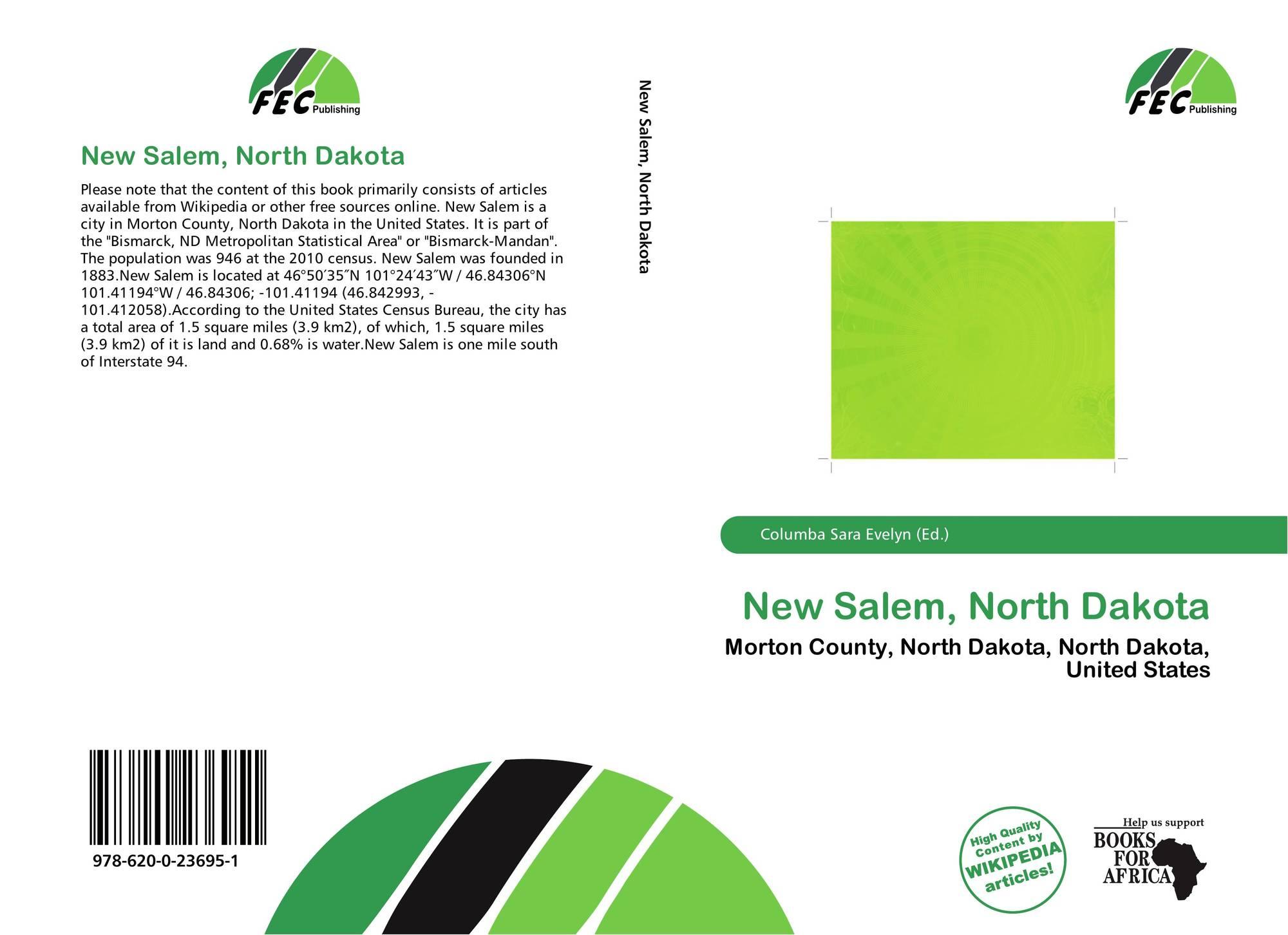 North dakota morton county glen ullin - Bookcover Of New Salem North Dakota