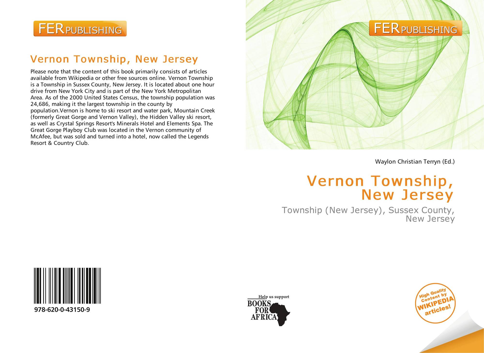 New jersey sussex county vernon - Bookcover Of Vernon Township New Jersey