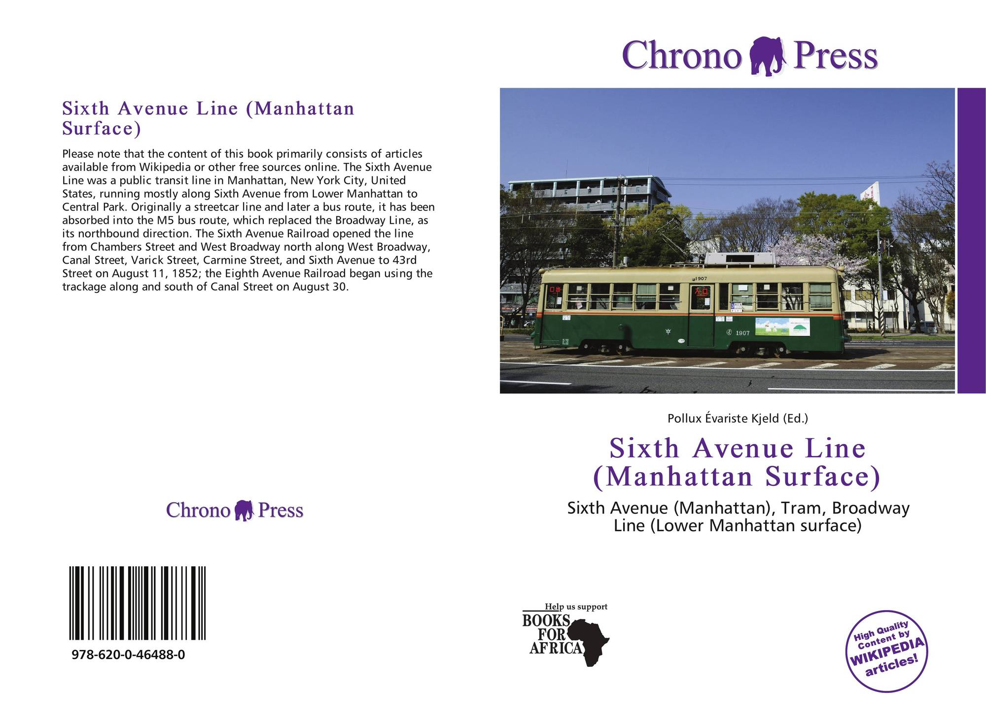 Bookcover Of Sixth Avenue Line Manhattan Surface