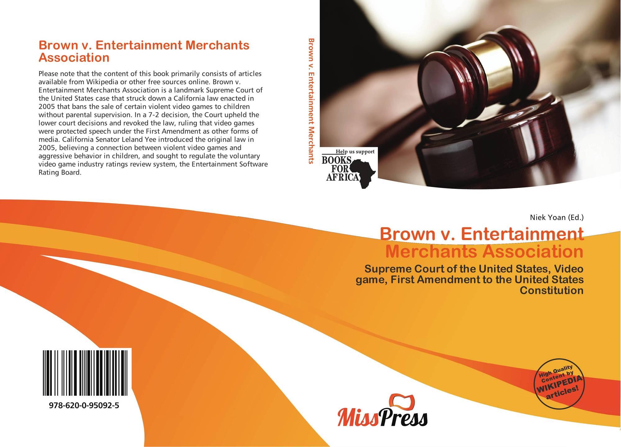 brown vs entertainment merchants assn
