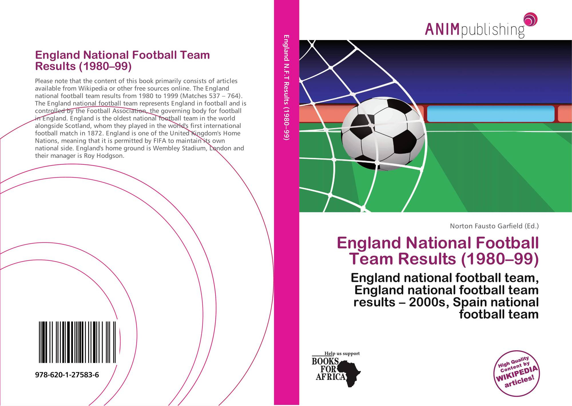 England National Football Team Results (1980–99), 978-620-1