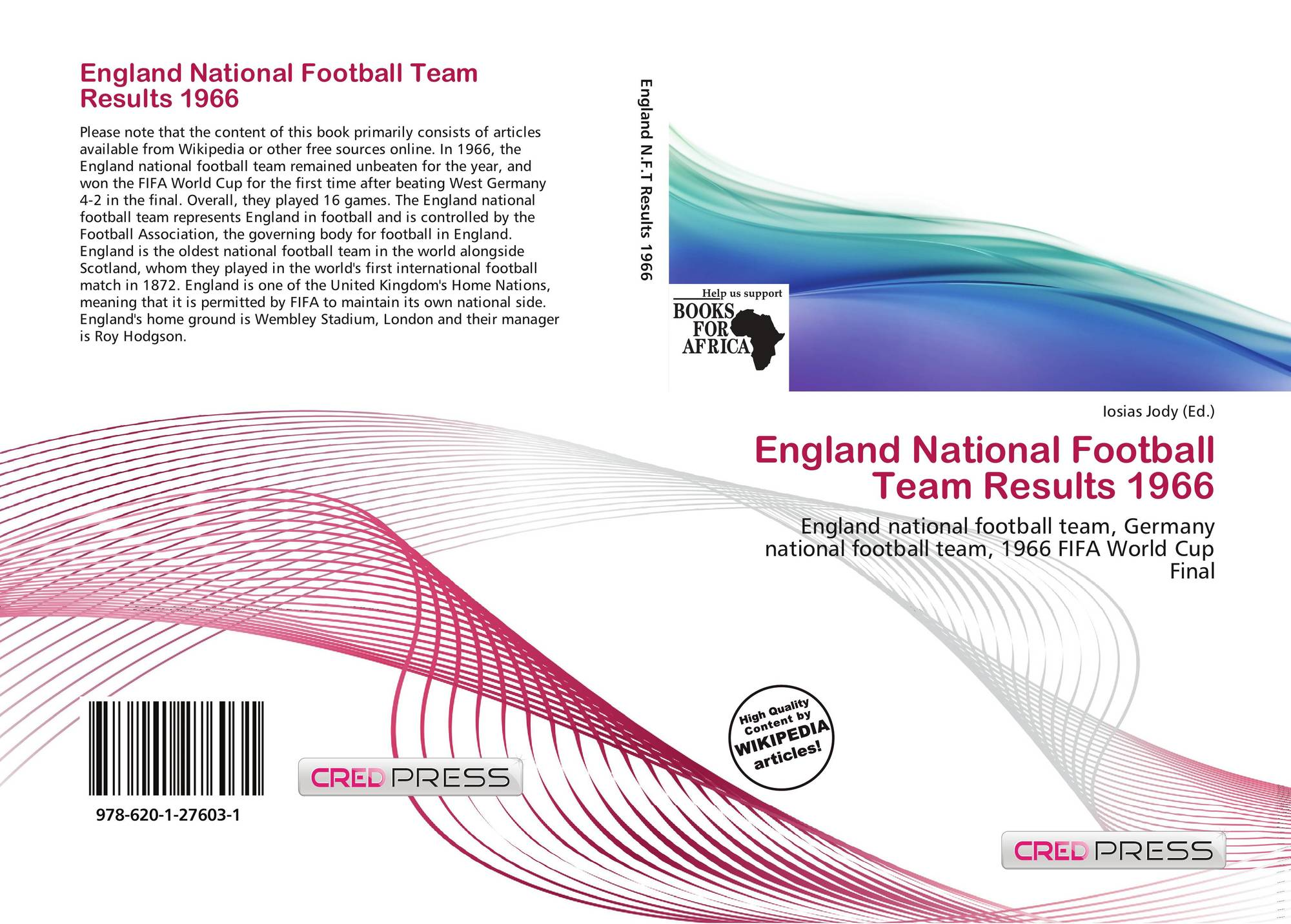 England National Football Team Results 1966, 978-620-1-27603