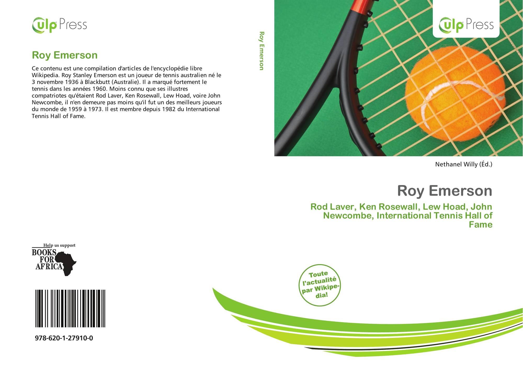 Roy Emerson 978 620 1 27910 0 6201279105 9786201279100