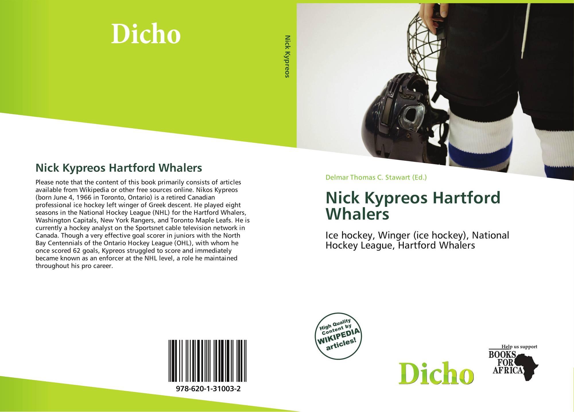 Bookcover of Nick Kypreos Hartford Whalers. 9786201310032 8f15af496