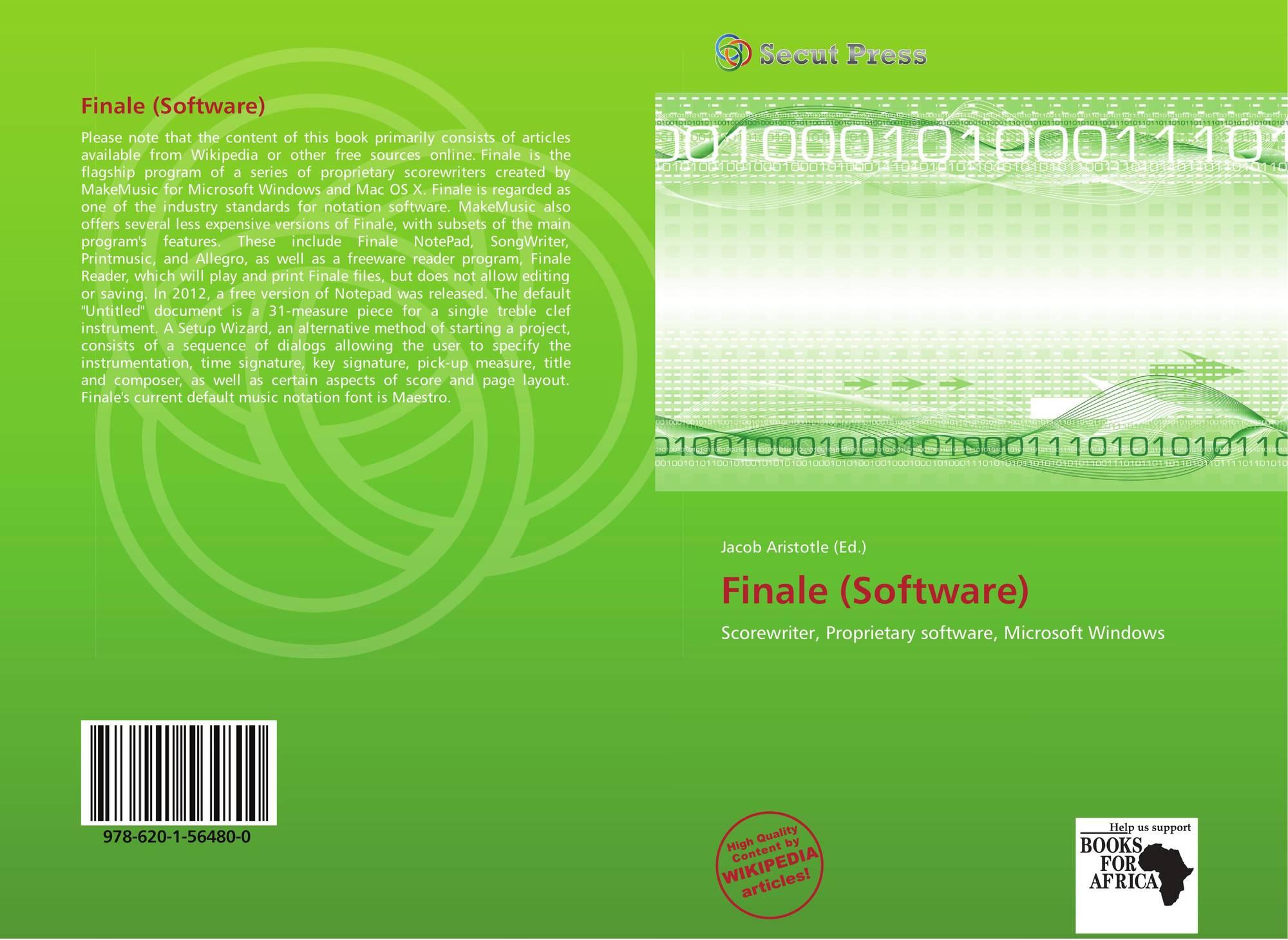 Finale (Software), 978-620-1-56480-0, 6201564802 ,9786201564800