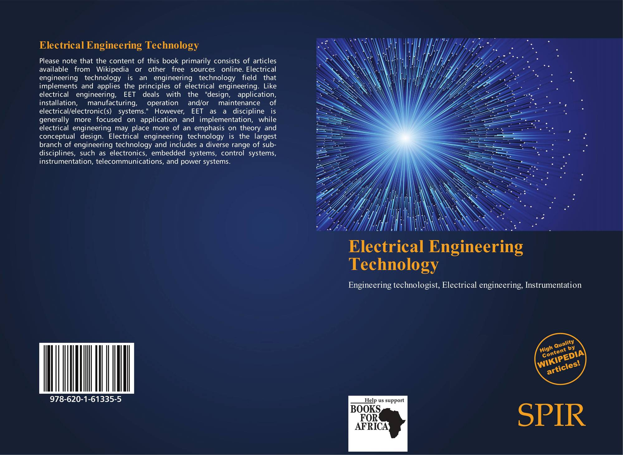 Electrical Engineering Technology 978 620 1 61335 5 6201613358 Books Bookcover Of 9786201613355