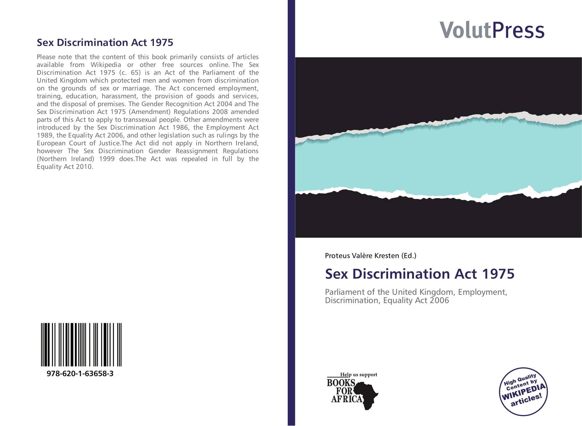 sex discrimination act in 1975