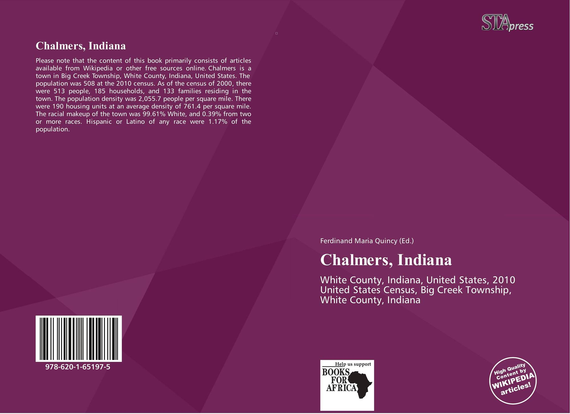 Indiana white county chalmers - Bookcover Of Chalmers Indiana Omni Badge 9307e2201e5f762643a64561af3456be64a87707602f96b92ef18a9bbcada116 Chalmers Indiana White County