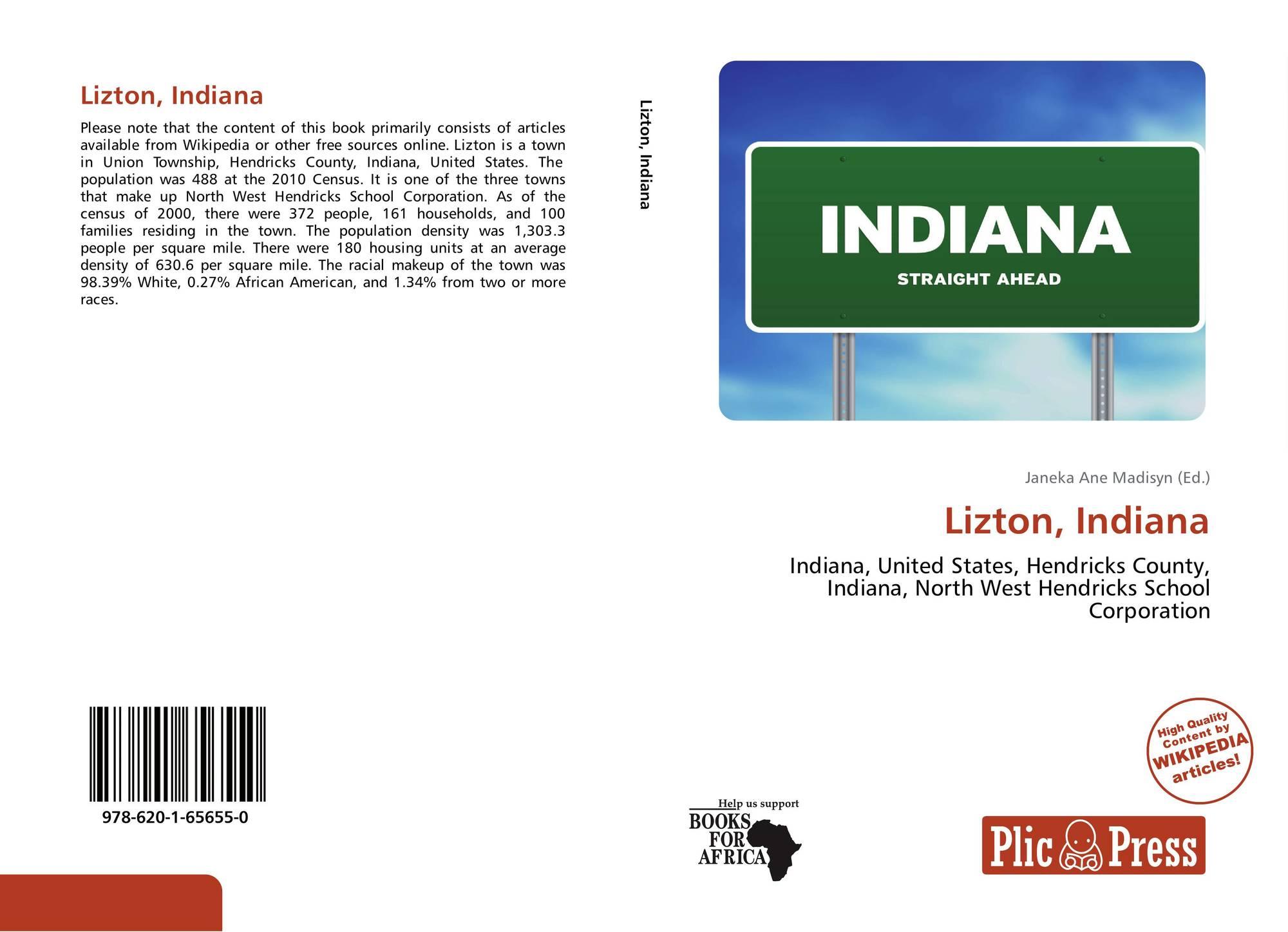 Indiana hendricks county lizton - Bookcover Of Lizton Indiana