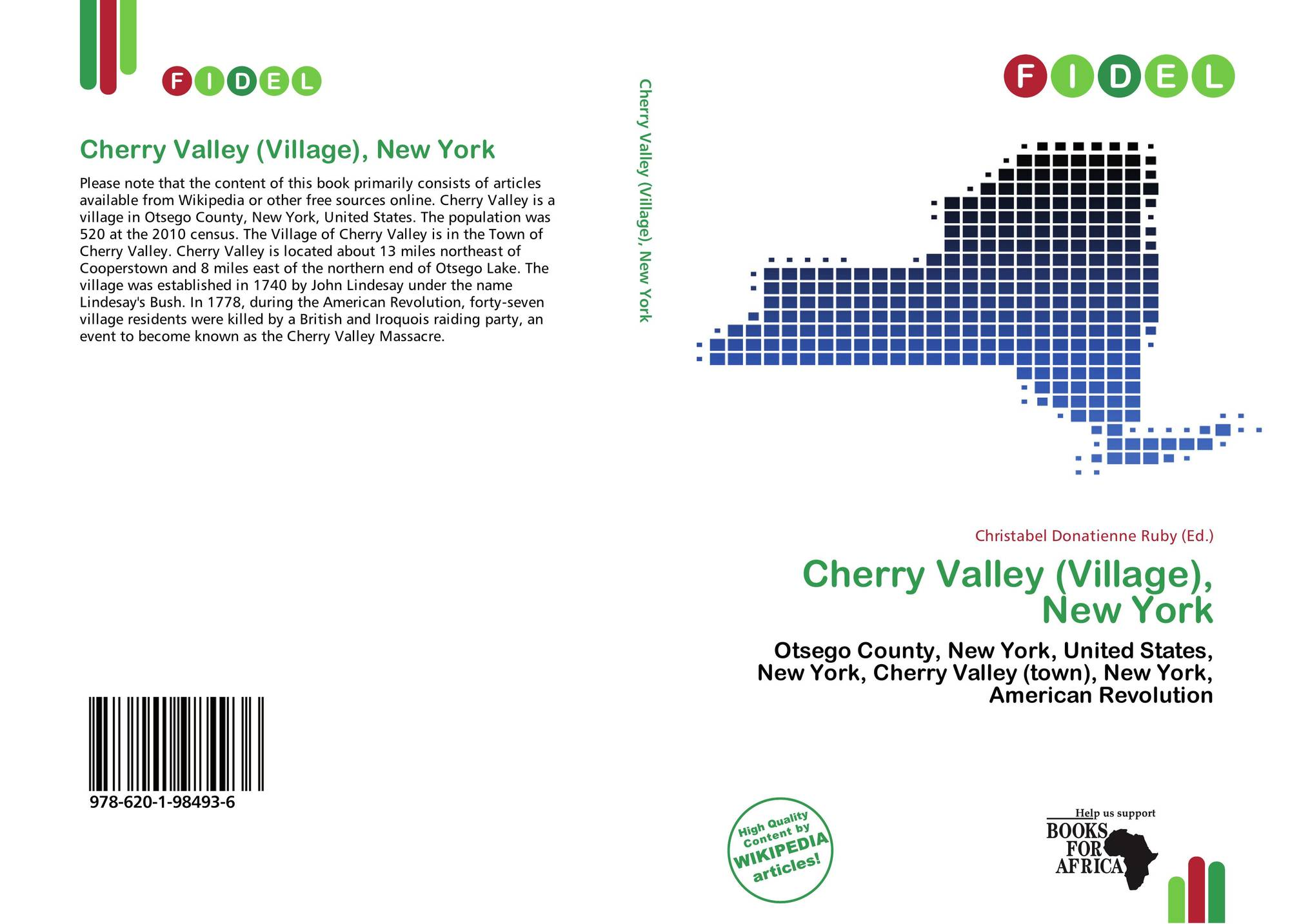 New york otsego county cherry valley - Bookcover Of Cherry Valley Village New York