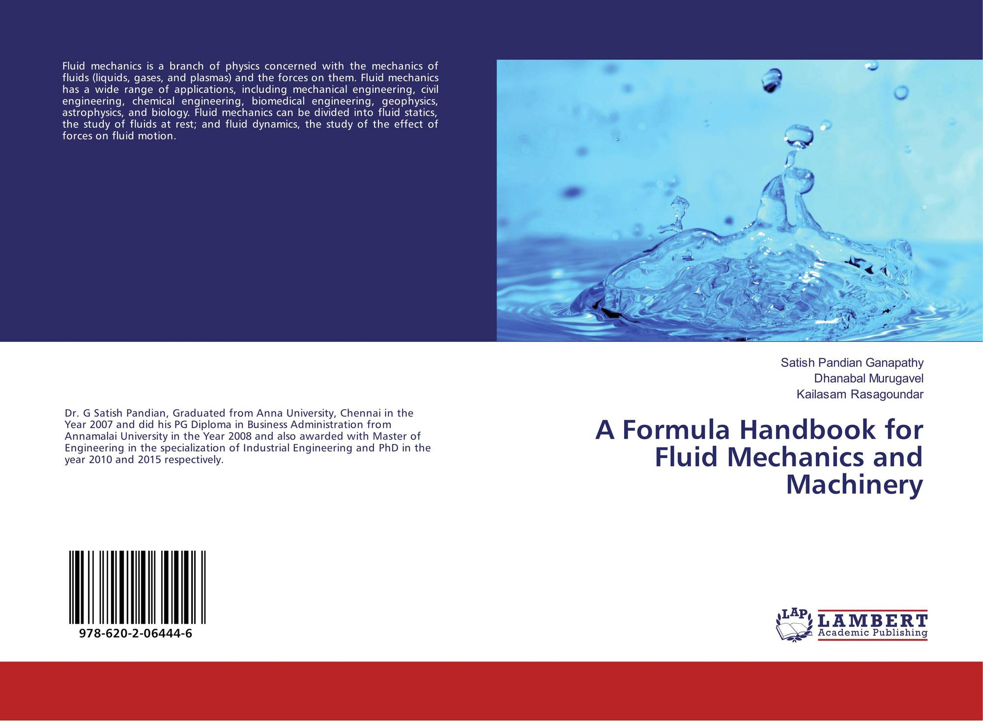 A Formula Handbook for Fluid Mechanics and Machinery, 978-620-2