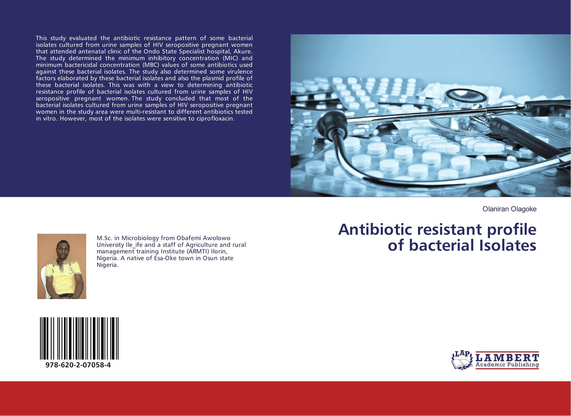 a description of testing antibiotics on different bacterias to determine its effect