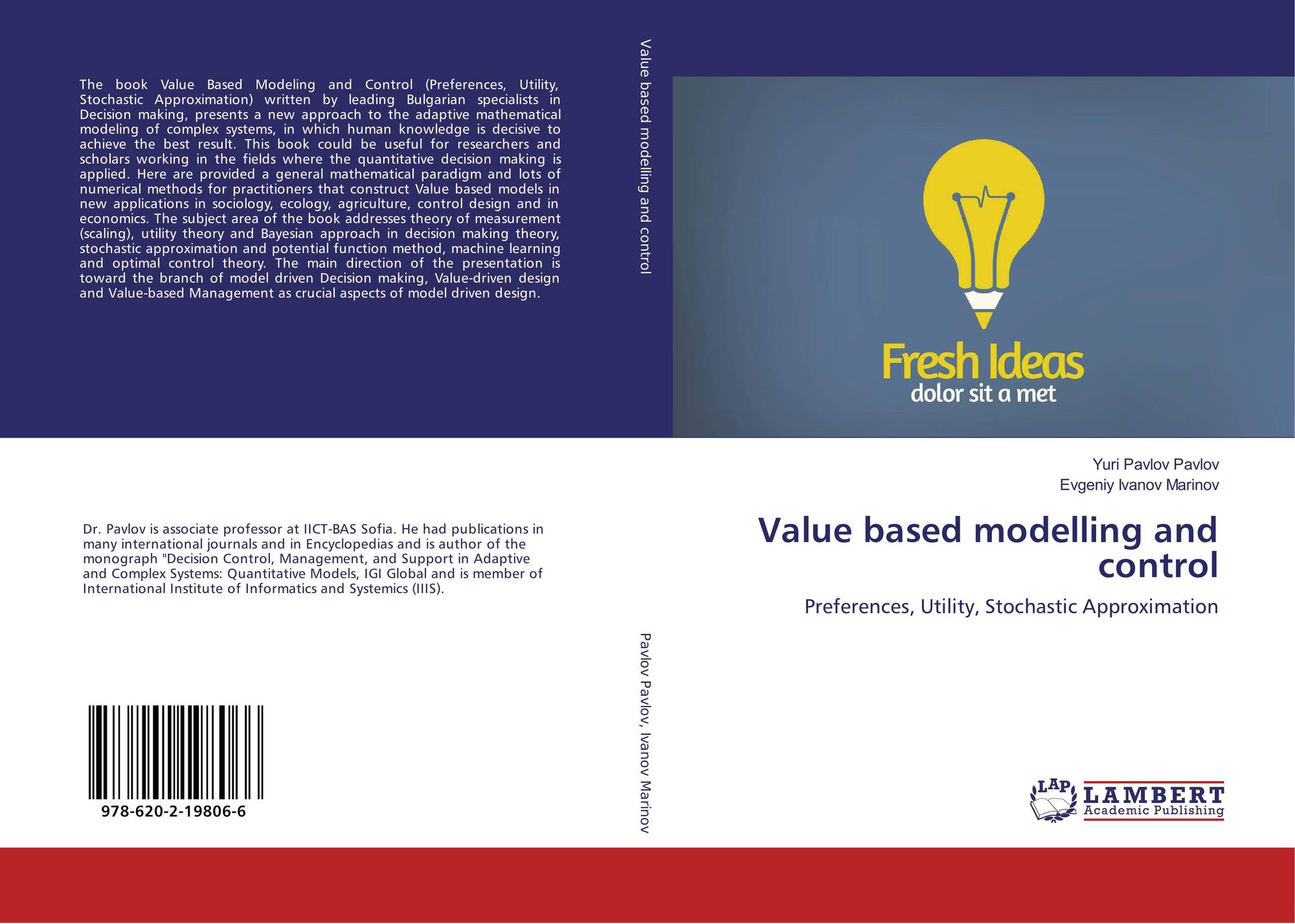 value based modelling and control  9786202198066