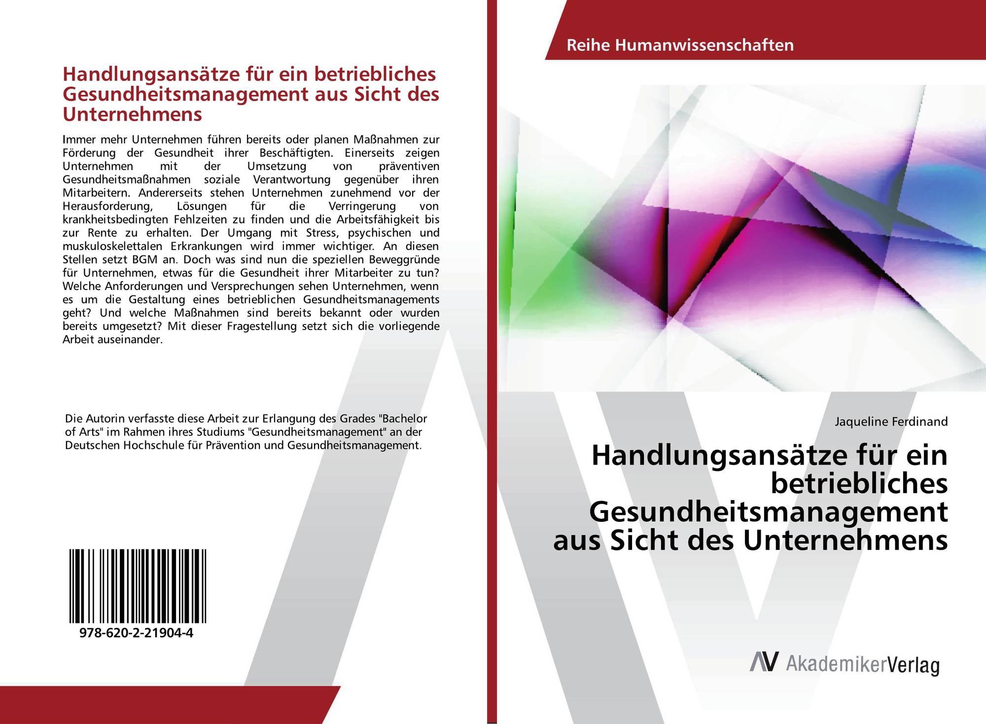 bachelor thesis betriebliches gesundheitsmanagement