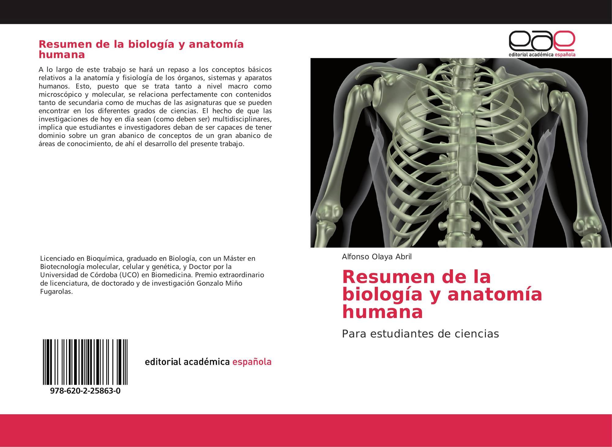 Resumen de la biología y anatomía humana, 978-620-2-25863-0 ...