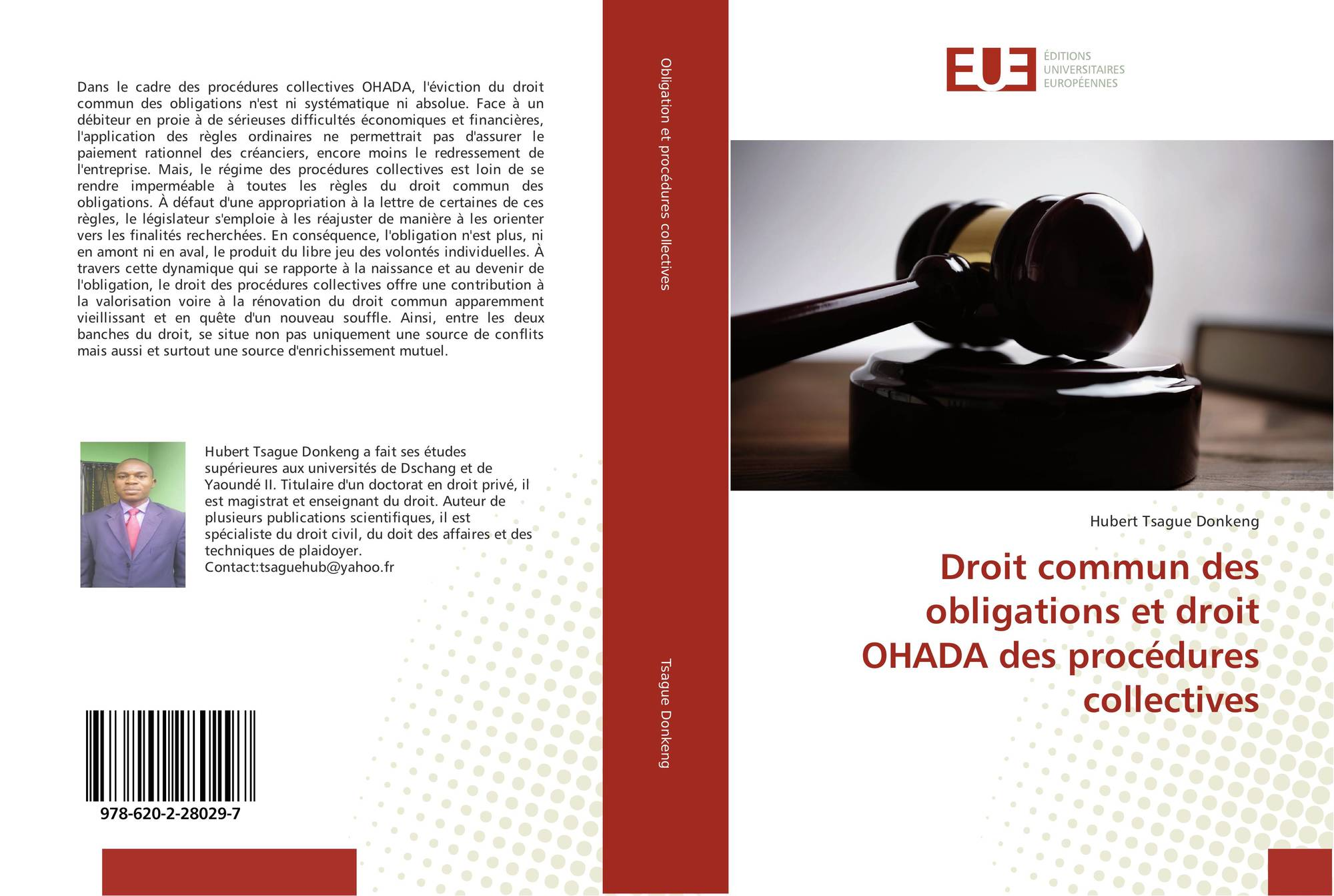 Droit Commun Des Obligations Et Droit Ohada Des Procedures Collectives 978 620 2 28029 7 6202280298 9786202280297 By Hubert Tsague Donkeng