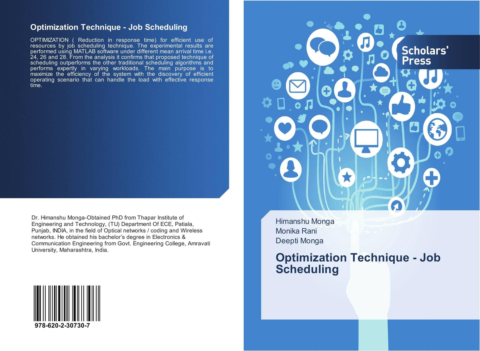 Optimization Technique - Job Scheduling, 978-620-2-30730-7