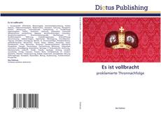 Bookcover of Es ist vollbracht