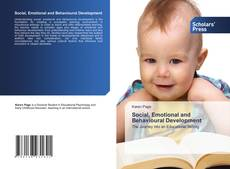Bookcover of Social, Emotional and Behavioural Development