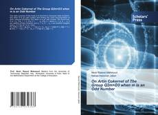 Bookcover of On Artin Cokernel of The Group Q2m×D3 when m is an Odd Number