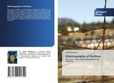 Bookcover of Historiography of Partition