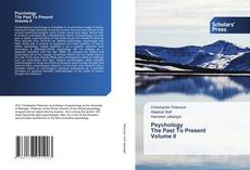 Bookcover of Psychology The Past To Present Volume II