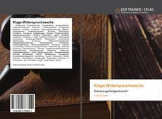 Bookcover of Klage Widerspruchssache