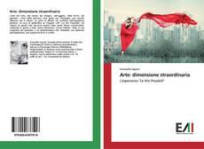 Bookcover of Arte: dimensione straordinaria