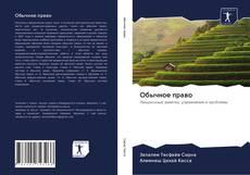 Bookcover of Обычное право