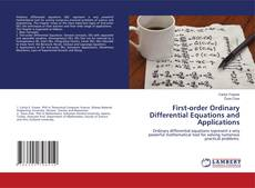 Bookcover of First-order Ordinary Differential Equations and Applications