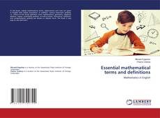 Bookcover of Essential mathematical terms and definitions