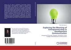 Bookcover of Exploring the Meaning of Entrepreneurship in Development Communication
