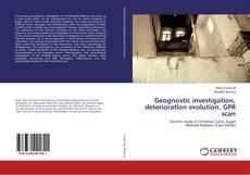 Buchcover von Geognostic investigation, deterioration evolution, GPR scan