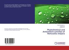 Обложка Phytochemical and Antioxidant activities of Remusatia vivipara