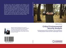 Copertina di Critical Environmental Security Analysis