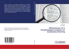Buchcover von Effectiveness of a morphological analyser on vocabulary learning