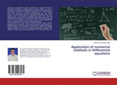Capa do livro de Application of numerical methods in Differential equations