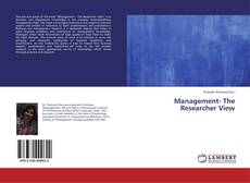 Bookcover of Management- The Researcher View